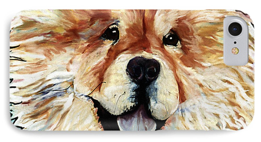 Chow Chow IPhone 7 Case featuring the pastel Madame Chu Cho by Pat Saunders-White