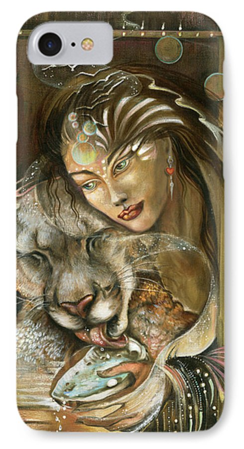 Wildlife IPhone 7 Case featuring the painting Madonna by Blaze Warrender