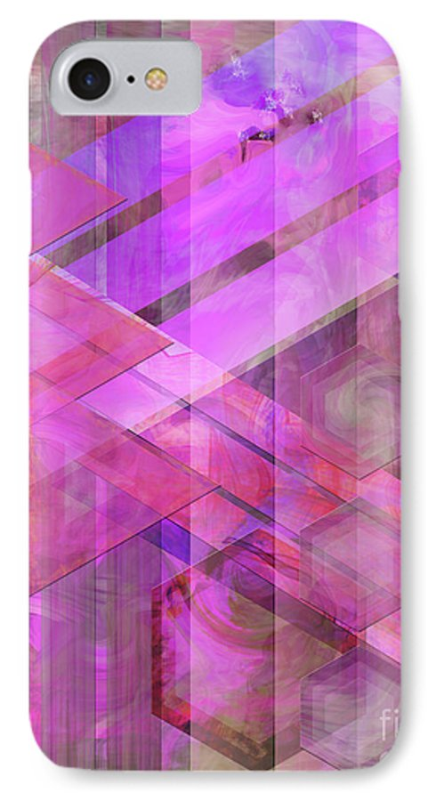 Magenta Haze IPhone 7 Case featuring the digital art Magenta Haze by John Beck