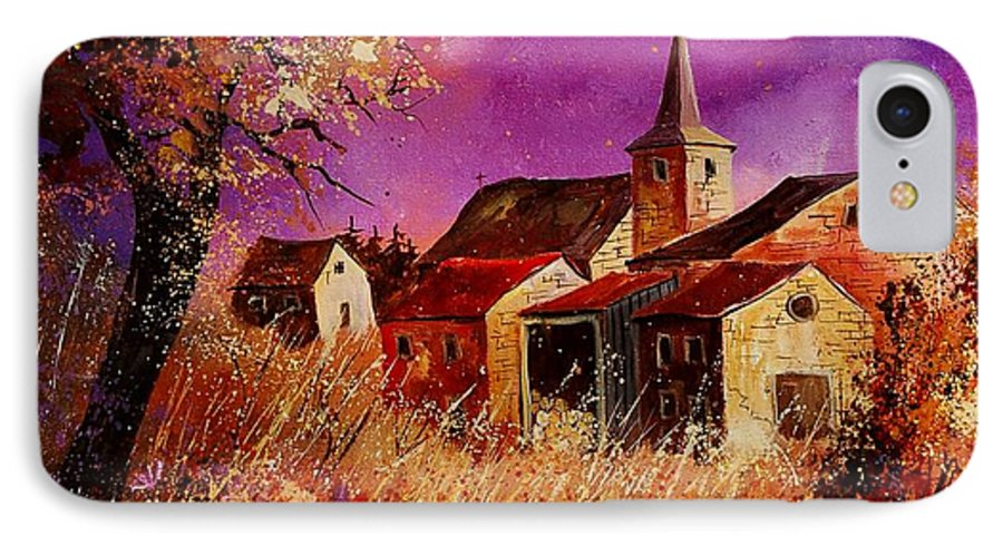 Landscape IPhone 7 Case featuring the painting Magic Autumn by Pol Ledent