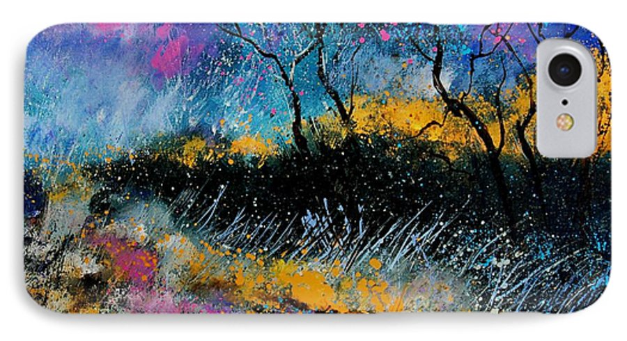 Landscape IPhone 7 Case featuring the painting Magic Morning Light by Pol Ledent