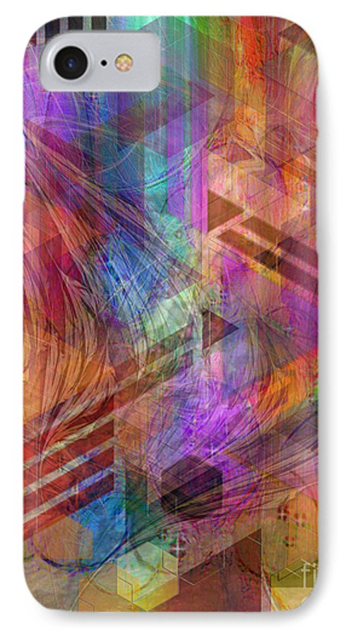 Magnetic Abstraction IPhone 7 Case featuring the digital art Magnetic Abstraction by John Beck