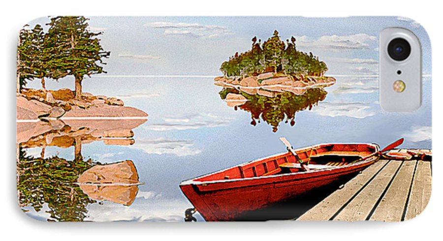 Maine IPhone 7 Case featuring the photograph Maine-tage by Peter J Sucy
