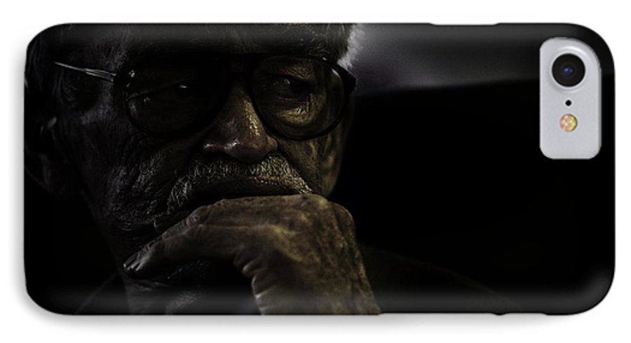 Portrait IPhone 7 Case featuring the photograph Man On Ferry by Sheila Smart Fine Art Photography