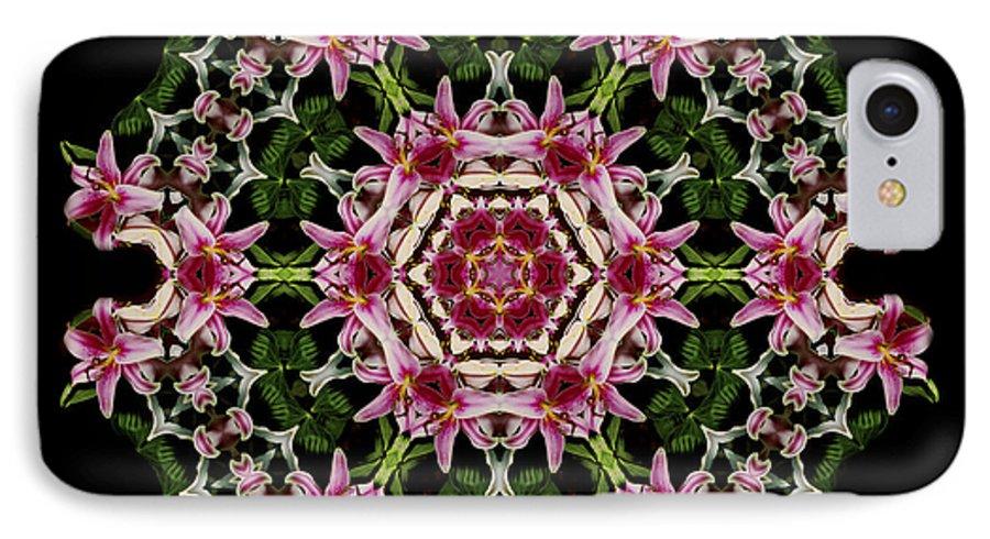 Mandala IPhone 7 Case featuring the photograph Mandala Monadala Lisa by Nancy Griswold