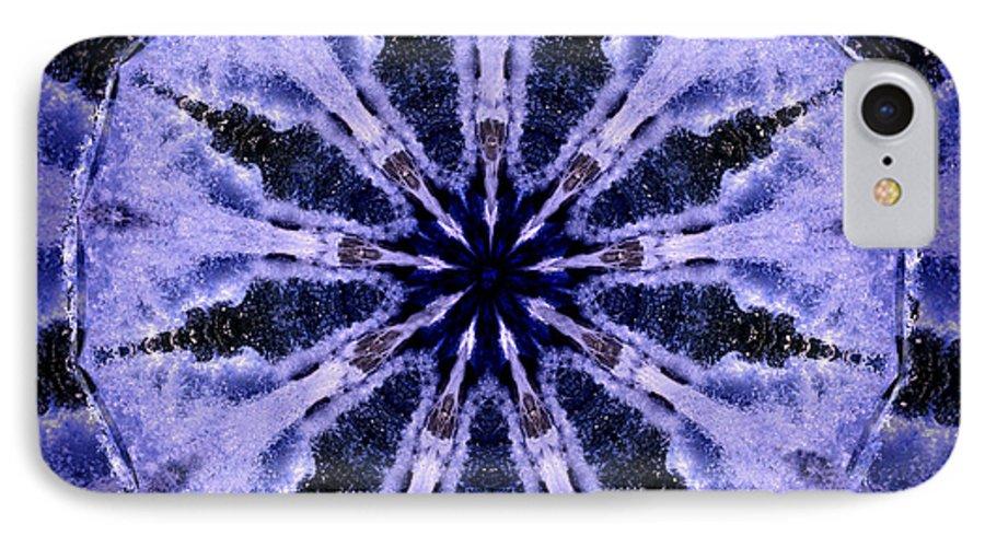 Mandala IPhone 7 Case featuring the digital art Mandala Ocean Wave by Nancy Griswold