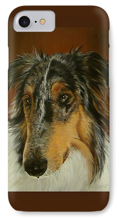 Painting IPhone 7 Case featuring the painting Man's Best Friend by Sheryl Gallant