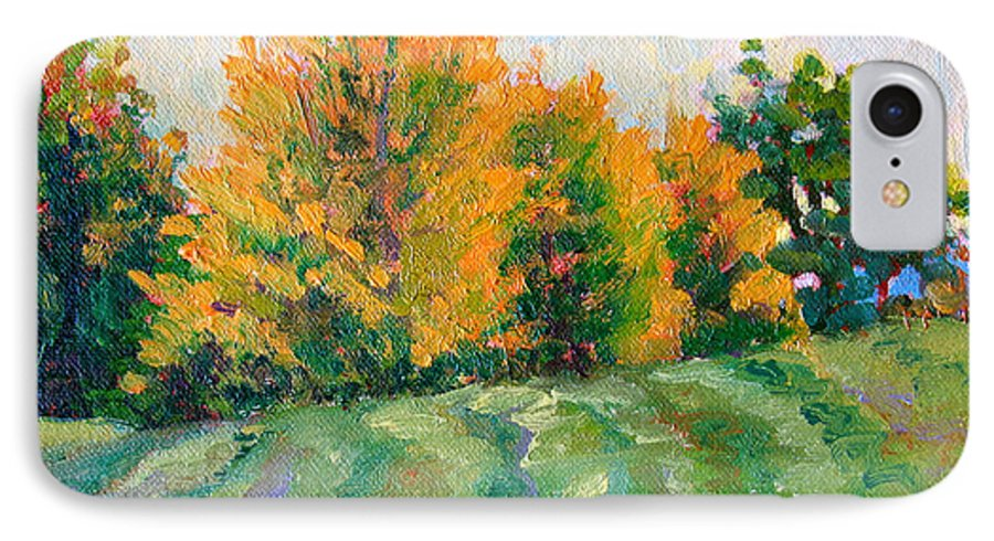 Impressionism IPhone 7 Case featuring the painting Maple Grove by Keith Burgess