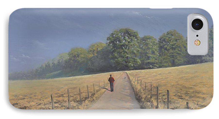 Landscape IPhone 7 Case featuring the painting Mapledurham by Richard Picton