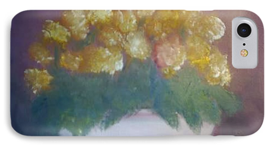 Marigolds IPhone 7 Case featuring the painting Marigolds by Sheila Mashaw