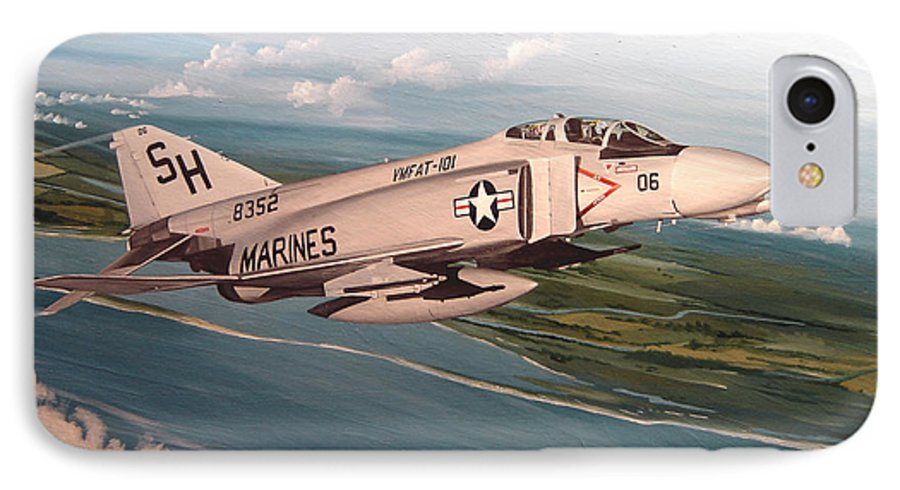 Aviation IPhone 7 Case featuring the painting Marine Phantom by Marc Stewart