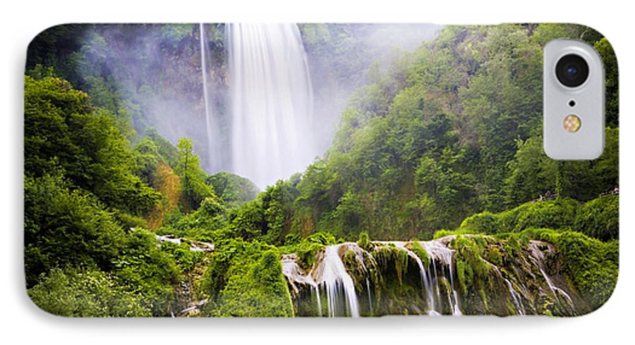 Italy IPhone 7 Case featuring the photograph Marmore Waterfalls Italy by Marilyn Hunt