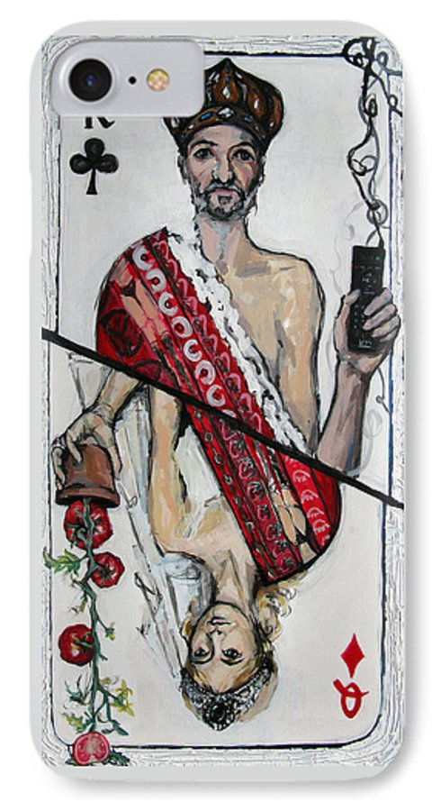 Marriage IPhone 7 Case featuring the painting Marriage by Mima Stajkovic