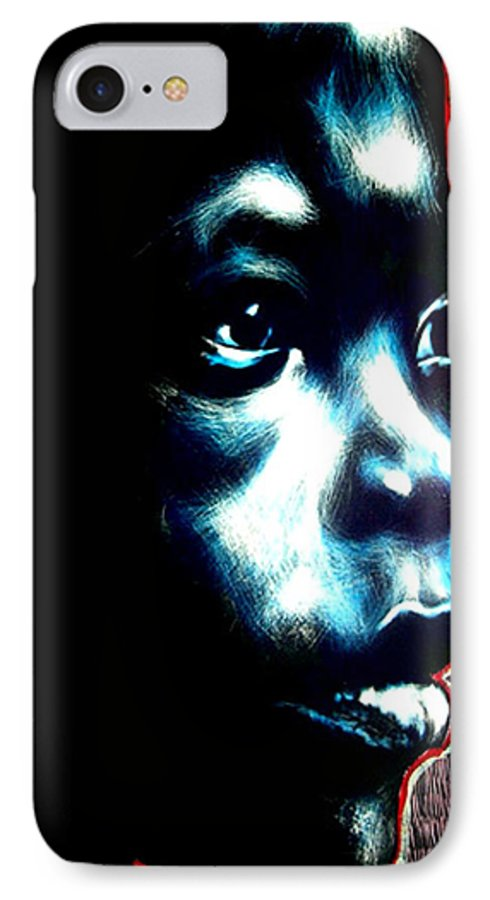 IPhone 7 Case featuring the mixed media Master Blue by Chester Elmore