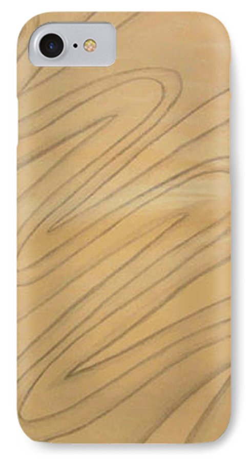Abstract IPhone 7 Case featuring the drawing Maze Of Life Drawing by Natalee Parochka