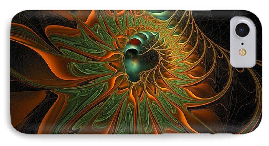 Digital Art IPhone 7 Case featuring the digital art Meandering by Amanda Moore