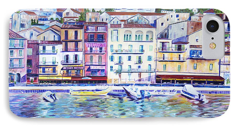 France IPhone 7 Case featuring the painting Mediterranean Morning by JoAnn DePolo