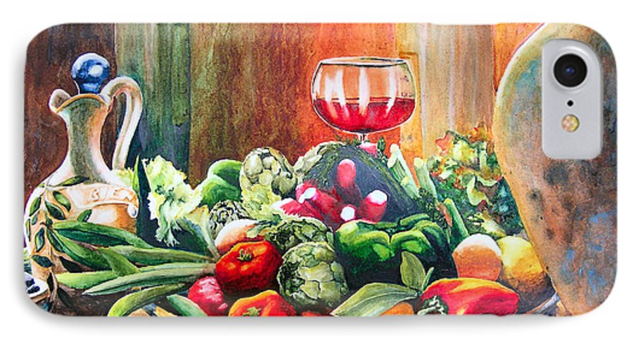 Still Life IPhone 7 Case featuring the painting Mediterranean Table by Karen Stark