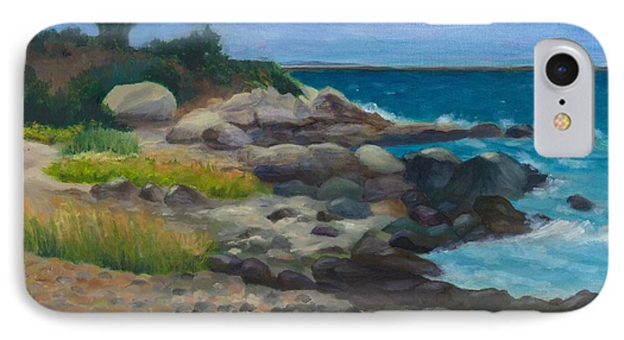 Landscape IPhone 7 Case featuring the painting Meigs Point by Paula Emery