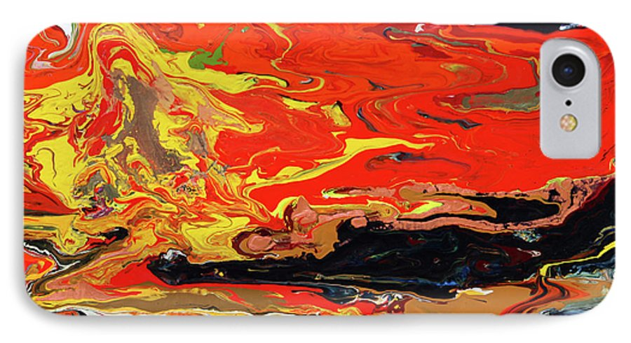 Fusionart IPhone 7 Case featuring the painting Melt by Ralph White