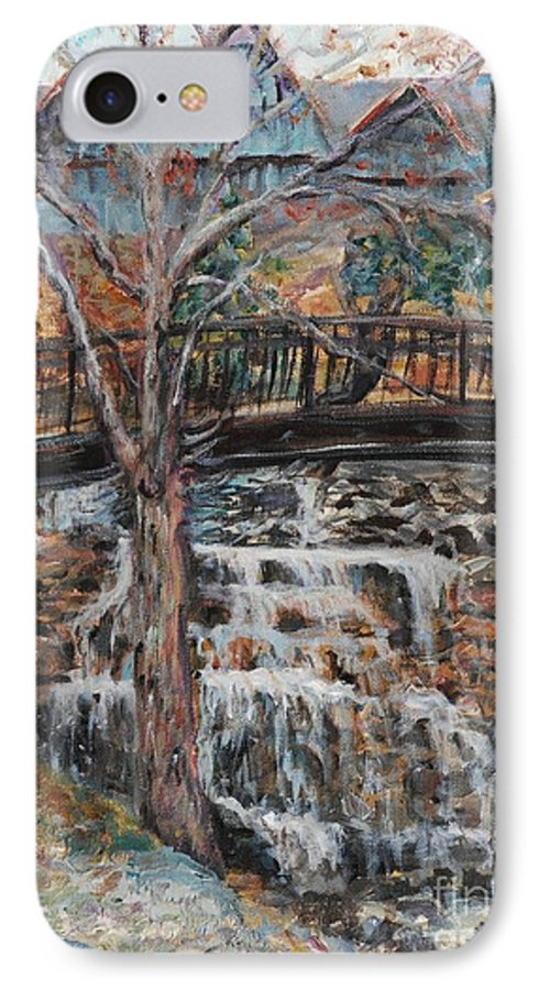 Waterfalls IPhone 7 Case featuring the painting Memories by Nadine Rippelmeyer