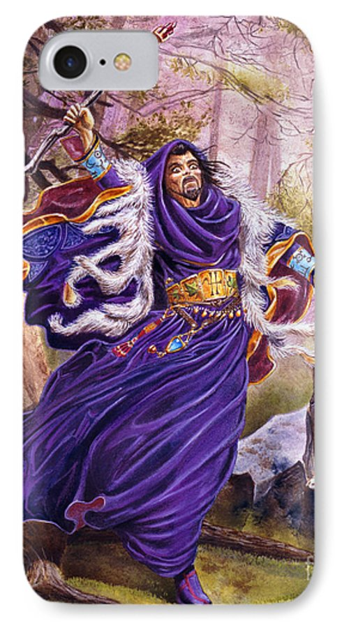 Artwork IPhone 7 Case featuring the painting Merlin by Melissa A Benson