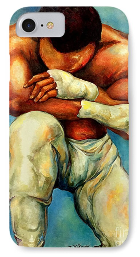 Lloyd Debery IPhone 7 Case featuring the painting Michael Original by Lloyd DeBerry