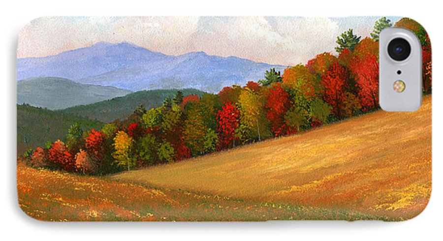 Landscape IPhone 7 Case featuring the painting Mid Autumn by Frank Wilson