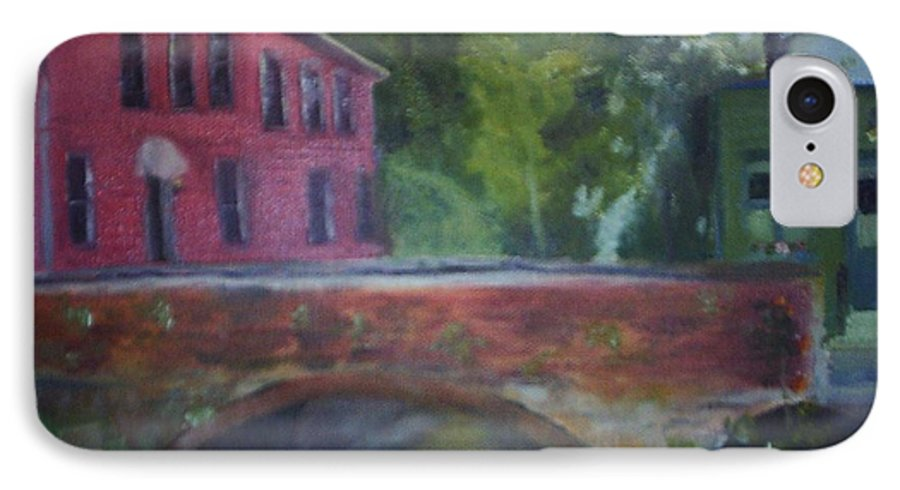 Mill Street IPhone 7 Case featuring the painting Mill Street Plein Aire by Sheila Mashaw