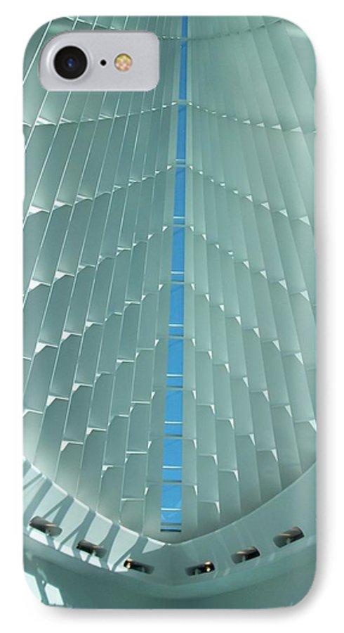 Mam IPhone 7 Case featuring the photograph Milwaukee Art Museum Interior by Anita Burgermeister