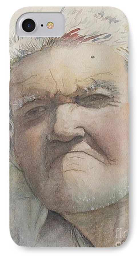 Portrait IPhone 7 Case featuring the painting Minnesota Farmer by Nadine Rippelmeyer