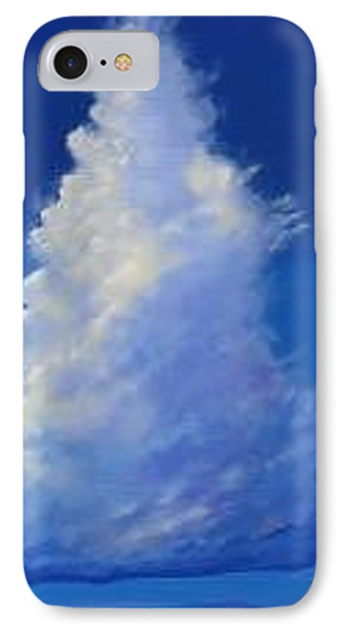 Clouds IPhone 7 Case featuring the painting Minor Earth Major Sky by Hunter Jay