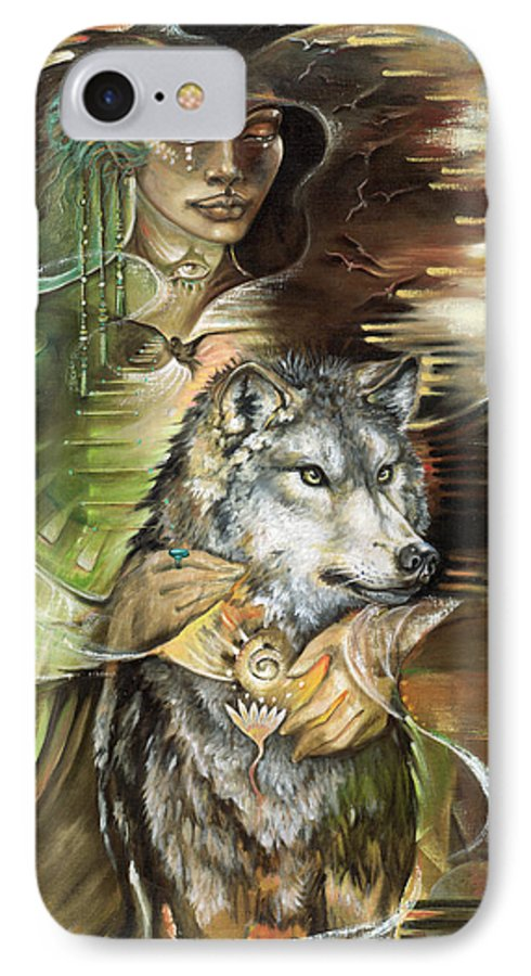 Animals IPhone 7 Case featuring the painting Missing You Susan Boulet by Blaze Warrender
