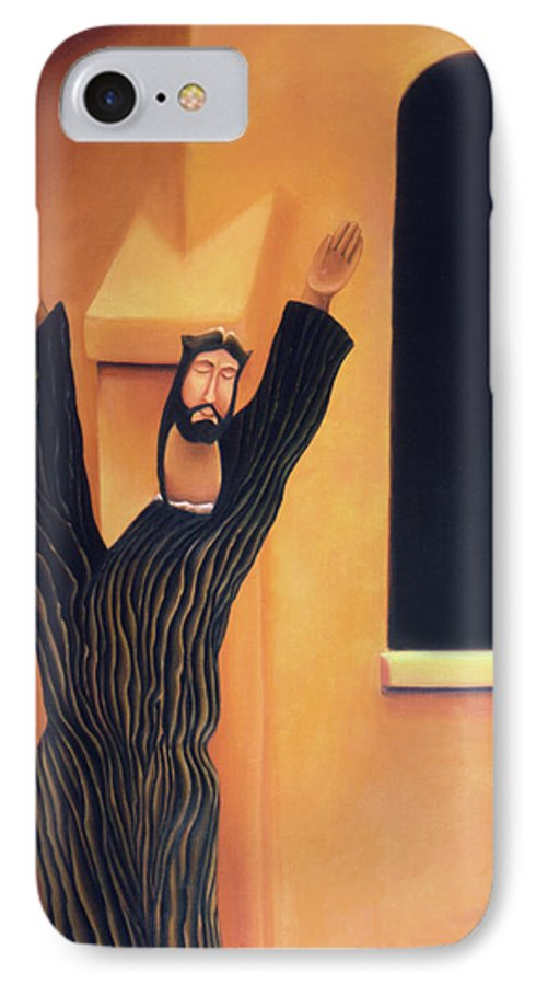 Southwest Art IPhone 7 Case featuring the painting Mission Icon by Anni Adkins