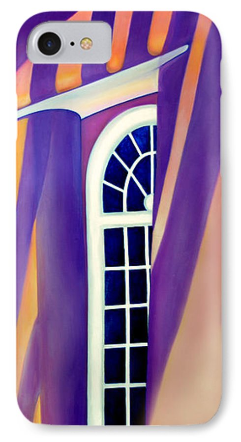 Mission St Francis Assisi IPhone 7 Case featuring the painting Mission St Francis Assisi At Noon by Anni Adkins