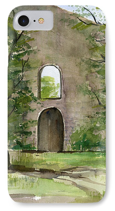Mission IPhone 7 Case featuring the painting Mission Wall by Arline Wagner