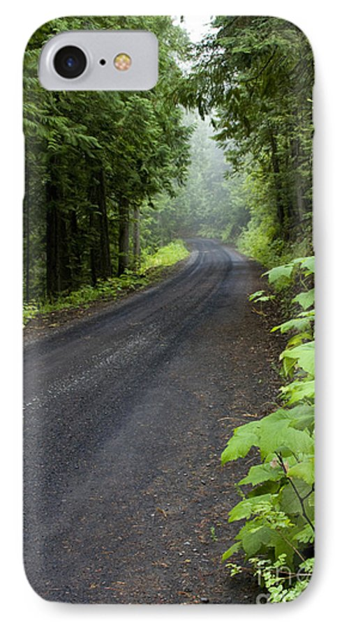 Road IPhone 7 Case featuring the photograph Misty Mountain Road by Idaho Scenic Images Linda Lantzy