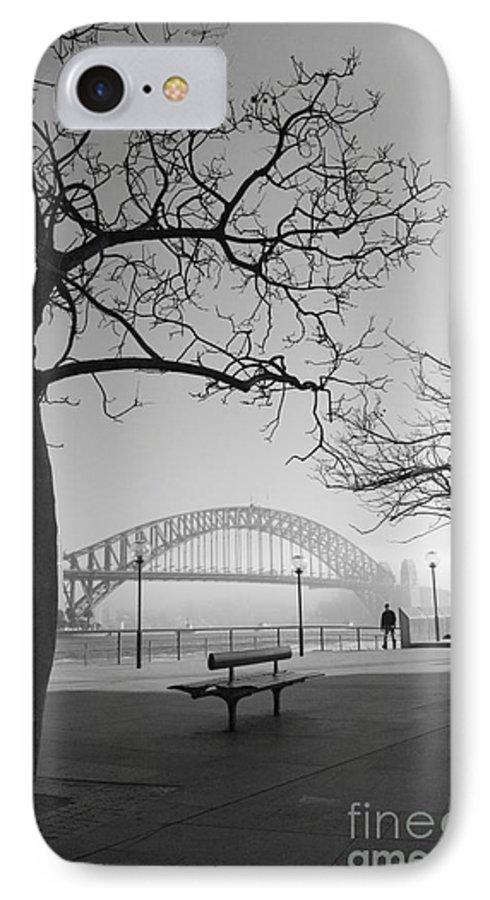 Sydney Harbour Bridge Mist Australia IPhone 7 Case featuring the photograph Misty Sydney Morning by Sheila Smart Fine Art Photography