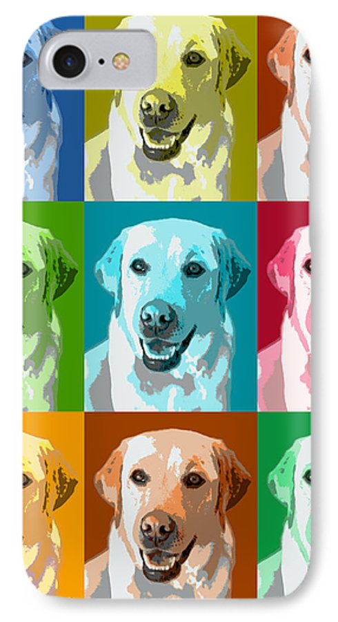 Americana IPhone 7 Case featuring the photograph Golden Retriever Warhol by Marilyn Hunt