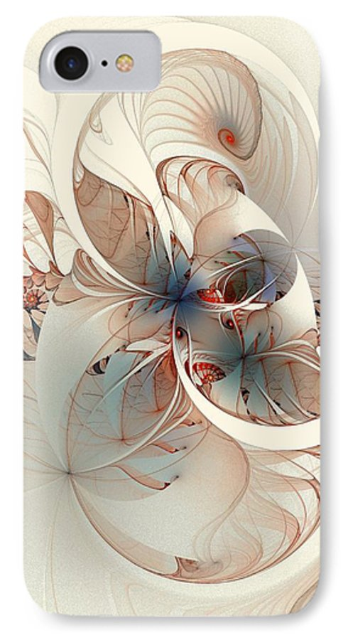 IPhone 7 Case featuring the digital art Mollusca by Amanda Moore