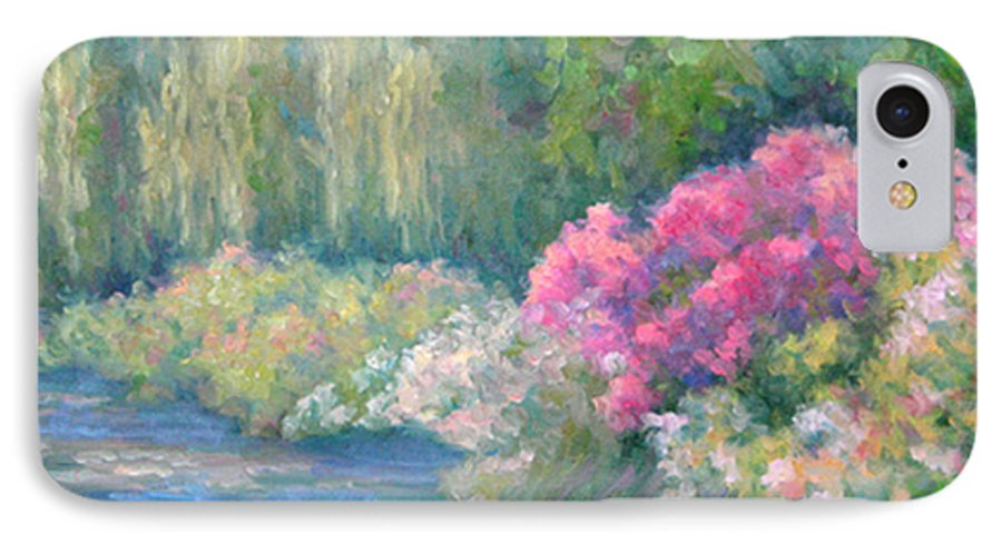 Pond IPhone 7 Case featuring the painting Monet's Pond by Bunny Oliver