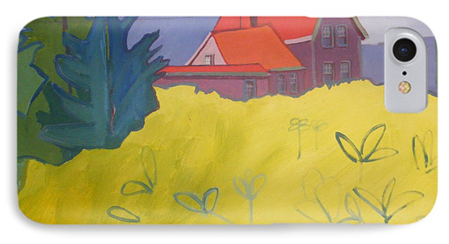 Lighthouse IPhone 7 Case featuring the painting Monhegan Light by Debra Bretton Robinson