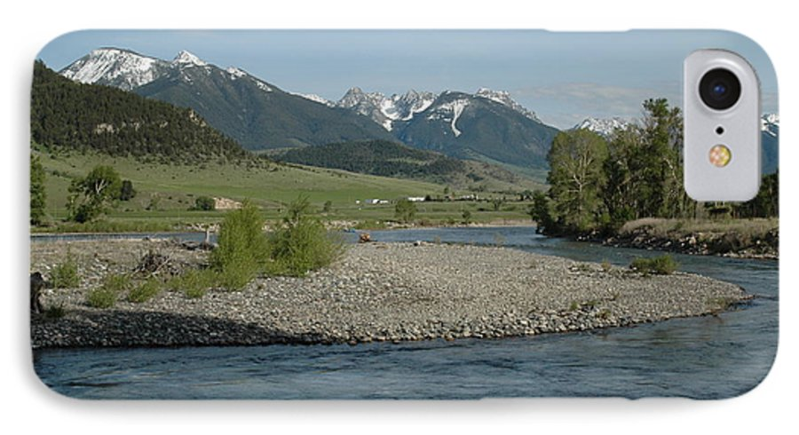 Stream IPhone 7 Case featuring the photograph Montana Stream by Kathy Schumann