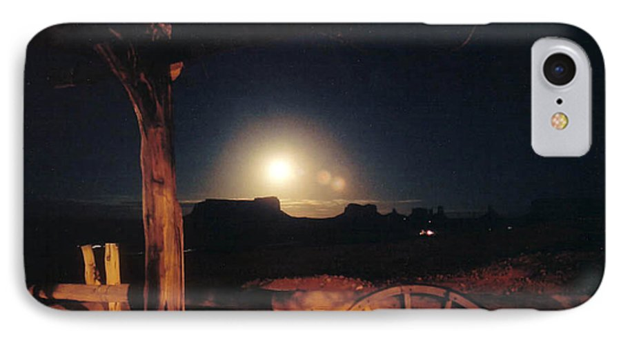 Landscape IPhone 7 Case featuring the photograph Monument Moonrise by Cathy Franklin