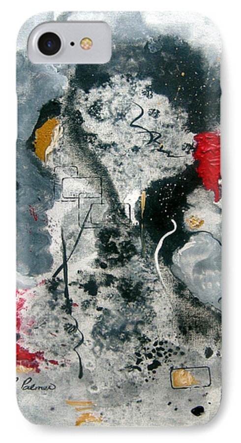 Abstract IPhone 7 Case featuring the painting Moods by Ruth Palmer