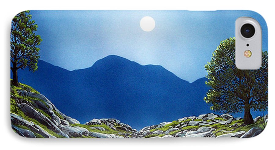 Landscape IPhone 7 Case featuring the painting Moonrise by Frank Wilson