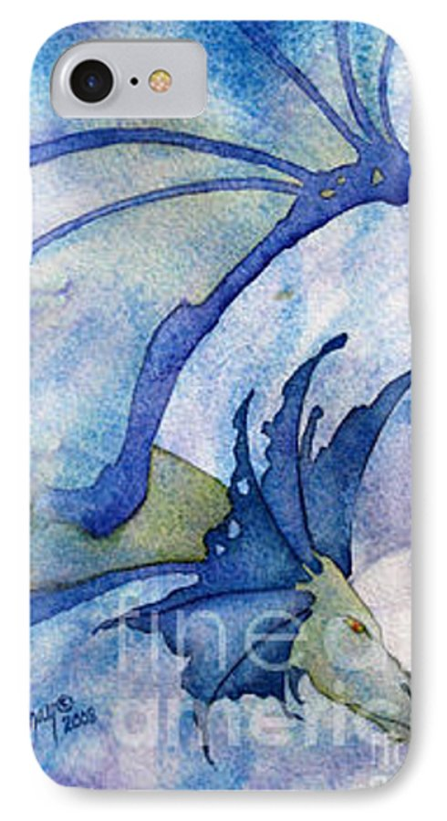 Dragon IPhone 7 Case featuring the painting Moonstone Dragon - Sold by Wendy Froshay