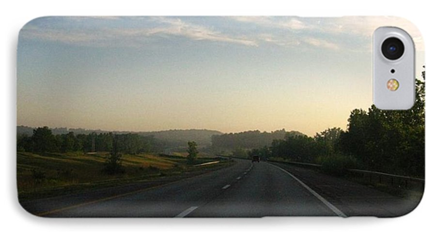 Landscape IPhone 7 Case featuring the photograph Morning Drive by Rhonda Barrett