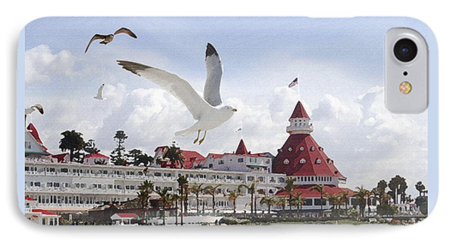 Beach IPhone 7 Case featuring the photograph Morning Gulls On Coronado by Margie Wildblood