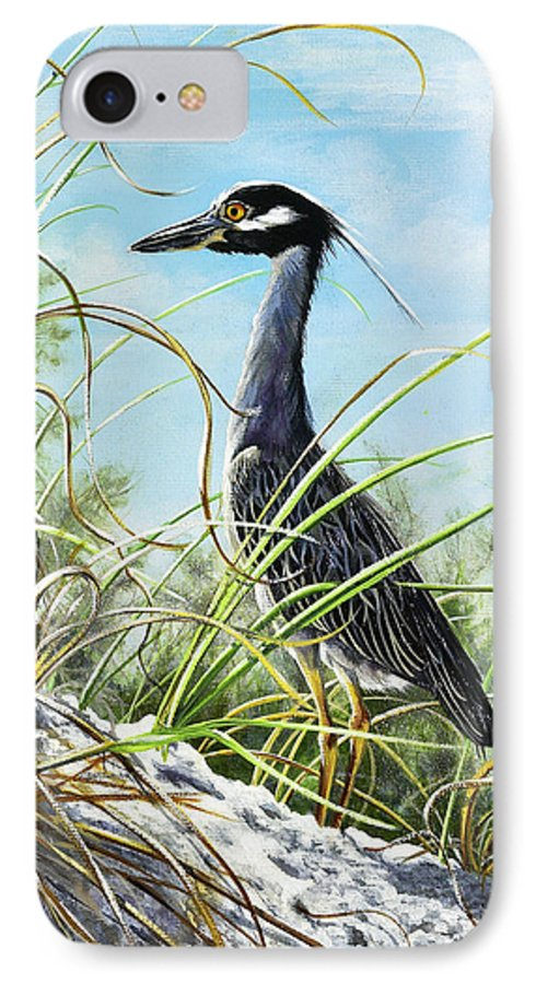 Bird IPhone 7 Case featuring the painting Morning Hunt by Joan Garcia